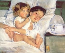"""Desayuno en la cama"" Mary Cassatt"